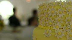 Wedding cake pan right Stock Footage