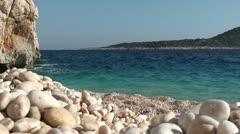 Beautiful sea scenery on Kaputas beach 2 Stock Footage
