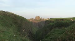 Dunnottar Castle Scotland Stock Footage