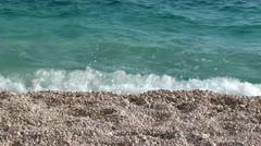 Beat of waves on Kaputas beach Stock Footage