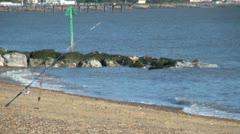 Beach Fishing Stock Footage