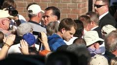 Mitt Romney Greets Voters Stock Footage