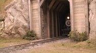 Model railroad logging train Stock Footage