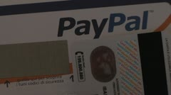 PayPal card. Stock Footage