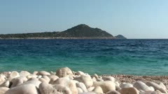 Magnificent view on an island from Kaputas beach 2 Stock Footage