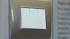 Light switch turn on off Stock Footage