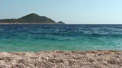Peaceful view from Kaputas beach Stock Footage