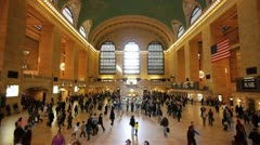 Grand Central Station time lapse 25fps 25P New York City PAL HD - stock footage