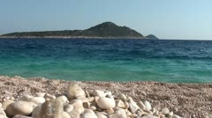 Magnificent view on an island from Kaputas beach Stock Footage