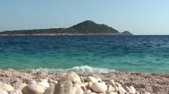 Magnificent view on an island from Kaputas beach 3 Stock Footage