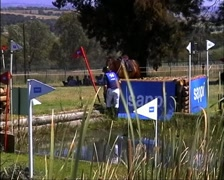 Horse Jumping and Rider Falls off GFSD - stock footage