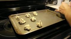 Baking cookies Stock Footage
