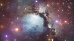 Messier 78 Nebula Space Travel 01 - stock footage