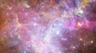 Stock Video Footage of Eagle Nebula Space Travel 01
