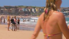 Bondi Beach, Sydney, Australia - Full HD PT21 Stock Footage