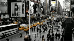 Times Square Color Selection Yellow Stock Footage