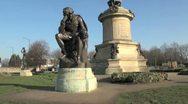Hamlet Statue, Stratford Upon Avon, UK Stock Footage