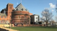The RSC Royal Shakespeare Company Theatre Building, Stratford Upon Avon, UK Stock Footage