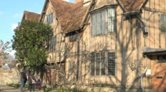 Hall's Croft, Stratford Upon Avon, UK Stock Footage