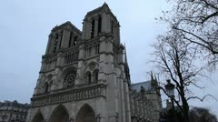 Notre Dame Cathedral in Paris, France, Our Lady Church, French Architecture - stock footage