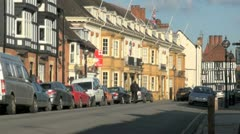 Church Street, Stratford Upon Avon,UK Stock Footage