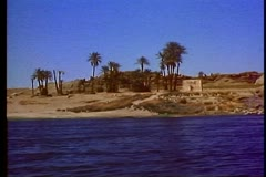 The Nile River at Aswan 108003 Stock Footage