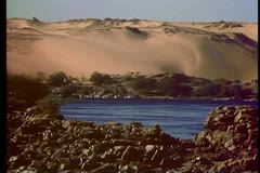 The Nile River at Aswan  108002 Stock Footage