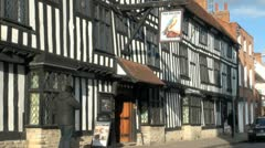 Ancient Building, Stratford Upon Avon, UK - stock footage