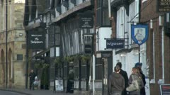 Historic Street, Stratford Upon Avon, UK Stock Footage