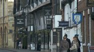 Stock Video Footage of Historic Street, Stratford Upon Avon, UK