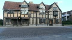 Shakespeare's Birthplace, Stratford Upon Avon, UK Stock Footage