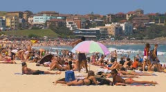 Bondi Beach, Sydney, Australia - Full HD PT24 Stock Footage