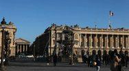 Place de la Concorde, Madeleine church, Fountain in Paris, France Stock Footage
