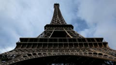 Eiffel Tower in Paris, France, Europe, French Architecture - stock footage
