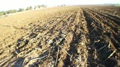 Dry field pan Stock Footage
