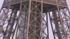 Details of Eiffel Tower close-up paris symbol attraction metal design Stock Footage