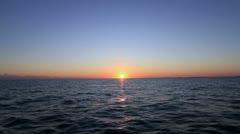 beautiful tropical sunset over the ocean - stock footage
