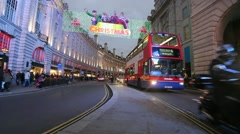 Regent Street at Christmas Stock Footage