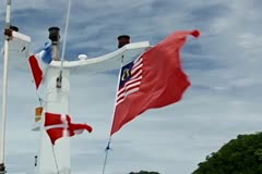 Malaysian flag Stock Footage