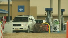 Filling Car Up at the Gas Station (2) Stock Footage