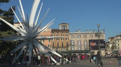 Timelapse of Piazza Bra, Verona, Italy Stock Footage
