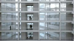 inside administrative building - stock footage