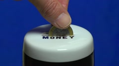 Saving the pennies.  Beer money. Stock Footage
