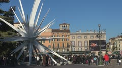Piazza Bra, Verona, Italy Stock Footage