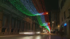Christmas traffic light strobe zoom Stock Footage