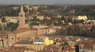 Stock Video Footage of Aerial view of Sant'Anastasia church, Verona, Italy
