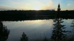 Minnesota Mary's Lake dusk Itasca Park - stock footage