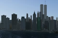 Lower Manhattan w/ WTC NTSC Stock Footage