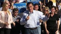 Mitt Romney On Winning The Election Stock Footage