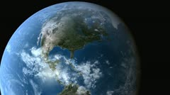 Stattionary Obrit Over North America - CG Earth 720p Stock Footage